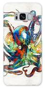 Colorful Octopus Art By Sharon Cummings Galaxy Case