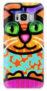 Contented Cat Galaxy Case by Steven Scott
