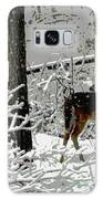 Deer On Snowy Trail Galaxy S8 Case