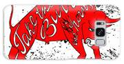Drawing Red Angry Bull On The Grunge Galaxy S8 Case