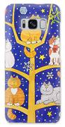 Five Christmas Cats Galaxy Case