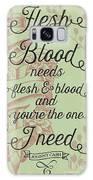 Flesh And Blood - Johnny Cash Lyric Galaxy S8 Case