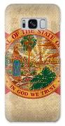 Florida State Flag Art On Worn Canvas Galaxy Case