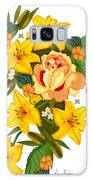 Golden Lily Flowers With Golden Rose Galaxy S8 Case