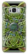 Green And Silver Celtic Cross Galaxy S8 Case