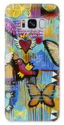 I Have Wings To Fly Galaxy Case by Carla Bank