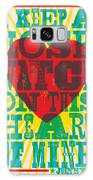 I Walk The Line - Johnny Cash Lyric Poster Galaxy S8 Case