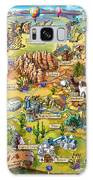 Illustrated Map Of Arizona Galaxy S8 Case