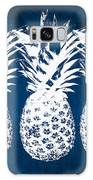 Indigo And White Pineapples Galaxy Case