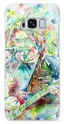 Jerry Garcia Playing The Guitar Watercolor Portrait.2 Galaxy S8 Case