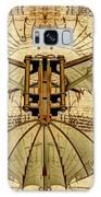 Leonardo Da Vinci Antique Flying Machine Under Parchment Galaxy S8 Case