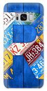 Letter R Alphabet Vintage License Plate Art Galaxy Case