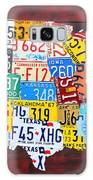 License Plate Art Map Of The Usa Edition 14 By Design Turnpike Galaxy Case