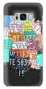 License Plate Map Of The United States On Gray Felt With Black Box Frame Edition 14 Galaxy Case