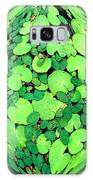 Lily Pads On Black Galaxy S8 Case