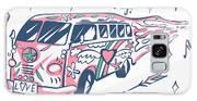 Love Bus Vector Poster. Hippie Car Galaxy S8 Case