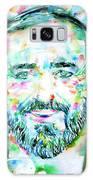 Luciano Pavarotti - Watercolor Portrait Galaxy S8 Case