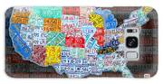 Map Of The United States In Vintage License Plates On American Flag Galaxy S8 Case