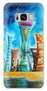 Miami City South Beach Original Painting Tropical Cityscape Art Miami Night Life By Madart Absolut X Galaxy S8 Case