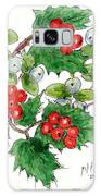 Mistletoe And Holly Wreath Galaxy Case