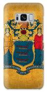 New Jersey State Flag Art On Worn Canvas Galaxy Case