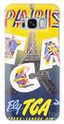 Paris Vintage Travel Poster Galaxy S8 Case