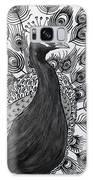 Peacock Walk Galaxy Case by Megan Dirsa-DuBois