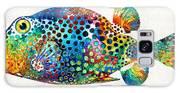 Puffer Fish Art - Puff Love - By Sharon Cummings Galaxy S8 Case