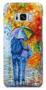 Sharing Love On A Rainy Evening Original Palette Knife Painting Galaxy S8 Case
