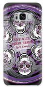 Spinning Celtic Skulls In Purple Galaxy S8 Case