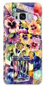 Stained Glass Pansies Galaxy S8 Case