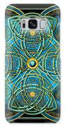 Teal Blue And Gold Celtic Cross Galaxy S8 Case