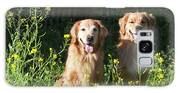 Two Golden Retrievers Sitting Together Galaxy S8 Case