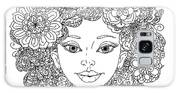 Uncolored Girlish Face For Adult Galaxy S8 Case
