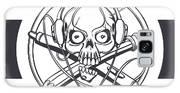 Vector Illustration Of A Black Skull Galaxy S8 Case
