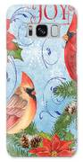 Winter Blue Cardinals-joy Card Galaxy S8 Case