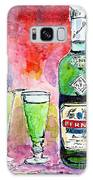 Absinthe Bottle And Glasses Watercolor By Ginette Galaxy S8 Case