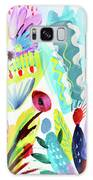Abstract Cactus And Flowers Galaxy S8 Case