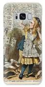 Alice In The Wonderland On A Vintage Dictionary Book Page Galaxy Case