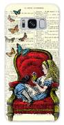 Alice In Wonderland Playing With Cute Cat And Butterflies Galaxy S8 Case