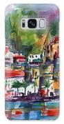 Amalfi Coast Italy Expressive Watercolor Galaxy S8 Case