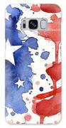 American Flag Watercolor Painting Galaxy Case