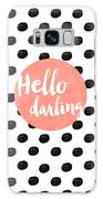 Hello Darling Coral And Dots Galaxy Case