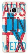 Austin Poster - Texas - Keep Austin Weird Galaxy S8 Case