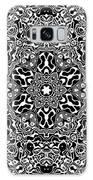 Black And White Mandala 34 Galaxy Case by Robert Thalmeier