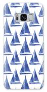 Blue And White Sailboats Pattern- Art By Linda Woods Galaxy Case