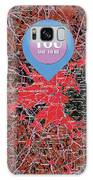 Boston Massachusetts 1948 Red Old Map You Are Here Galaxy S8 Case