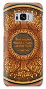 Celtic Dragonfly Mandala In Orange And Brown Galaxy S8 Case
