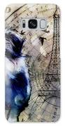 City Girl Goes To Paris Galaxy Case by Delight Worthyn