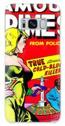 Classic Comic Book Cover - Famous Crimes From Police Files - 0112 Galaxy Case by Wingsdomain Art and Photography